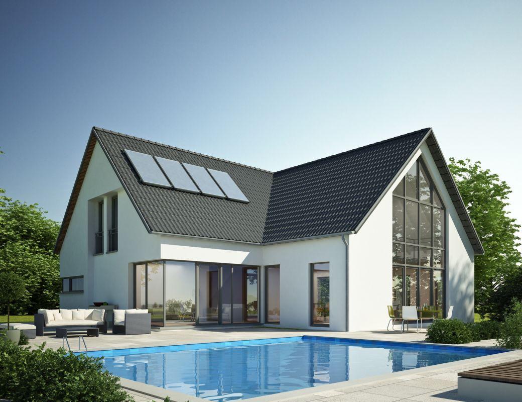 Nowy dom z bramą segmentową